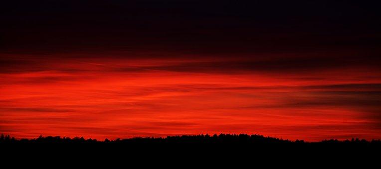 Sunset, Nature, Dawn, Panorama, Dusk