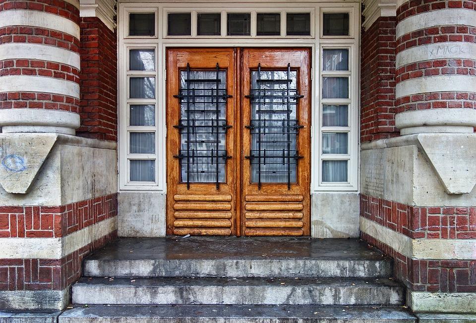 Attractive Door Wooden Door Entrance Double Door Architecture