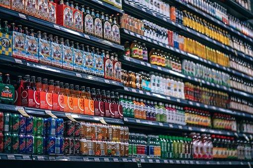 Bebidas, Botellas, Plataforma, Latas
