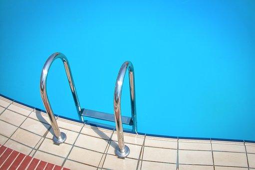 Basen, Pływać, Niebieski, Wakacje, Wody