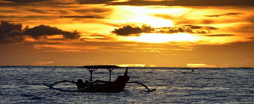 Boat, Sunset, Dusk, Philippine, Bangka