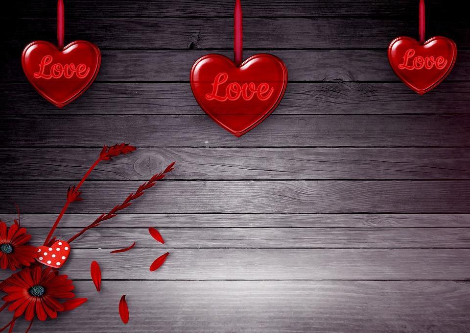 Heart Flowers Background Image · Free Photo On Pixabay
