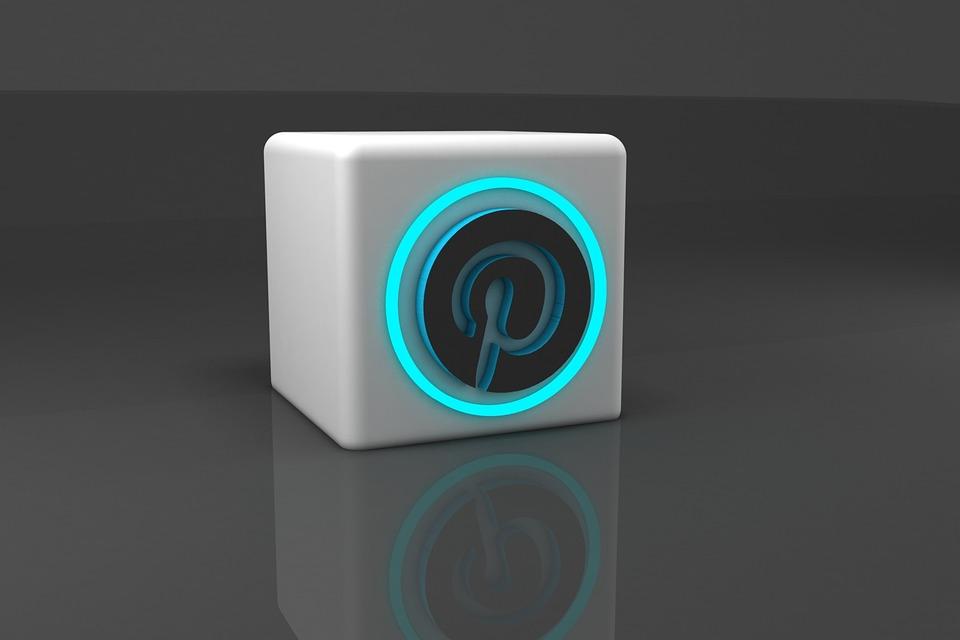Pinterest 3D, Logo, 3D, Modeling