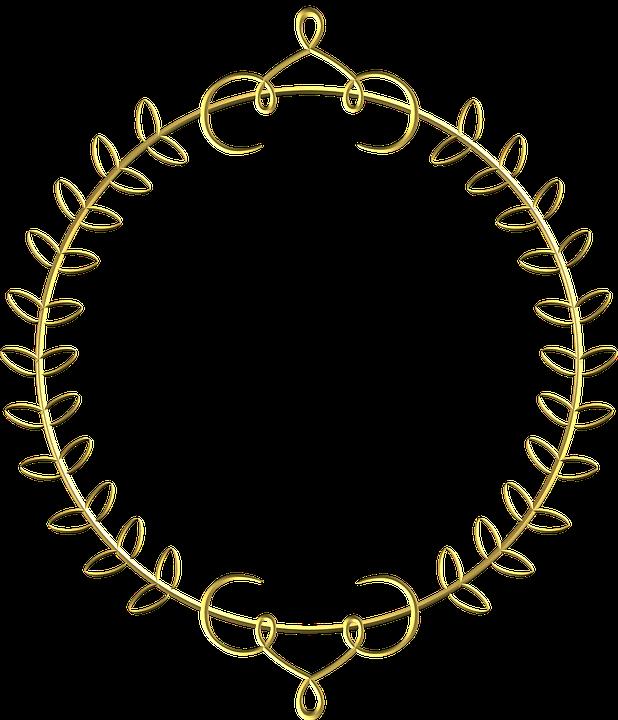 gold frame circle 183 free image on pixabay