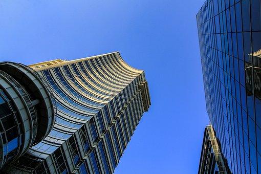 アーキテクチャ, 空, 市, 超高層ビル, 建物, 高, 都市の景観