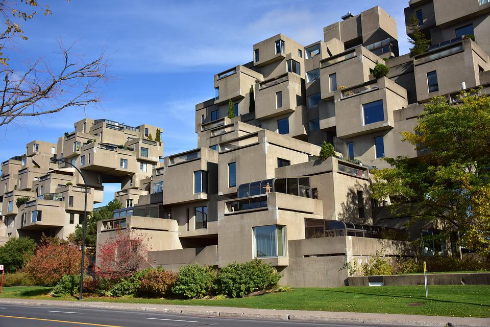 Charming Habitat 67 Montreal Apartment Building Home 1967