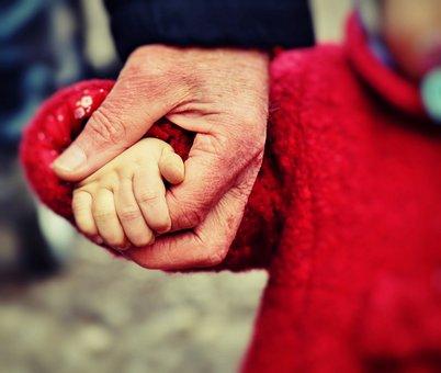 赤ちゃん, 手, 小さな子供, 維持, ホールド, 回復, 愛, 追加しました