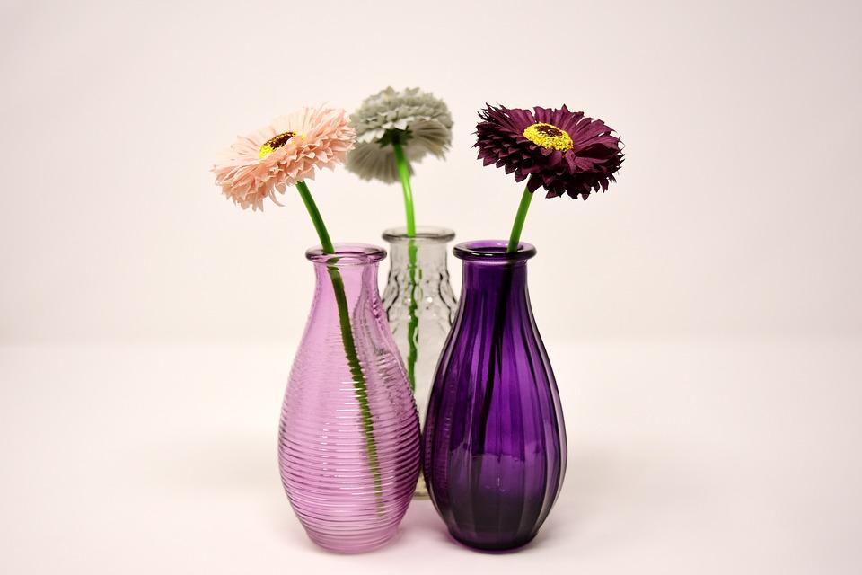 Vases Glass Colorful Free Photo On Pixabay