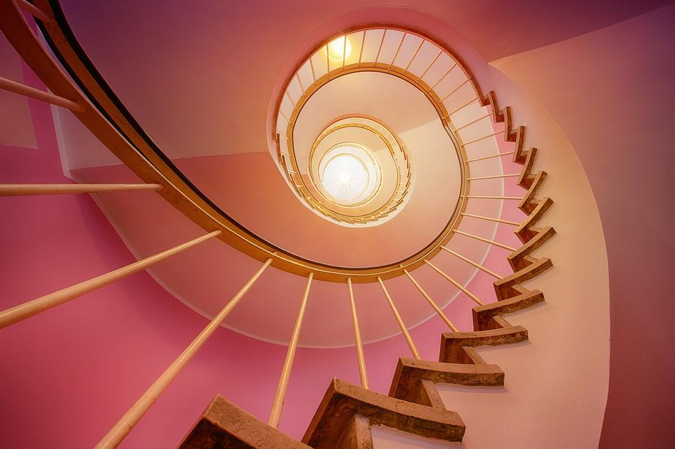Stairs, Spiral, Stair Step, Emergence, Rise, Staircase