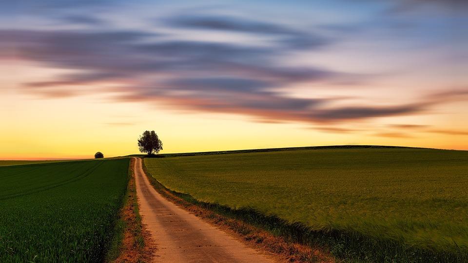 Nature, Landscape, Sky, Panorama, Field, Clouds, Away
