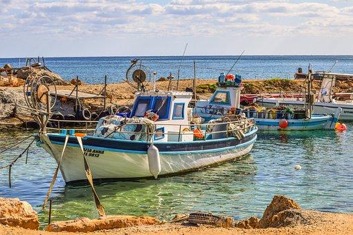 Cyprus, Protaras, Fishing Shelter, Boats