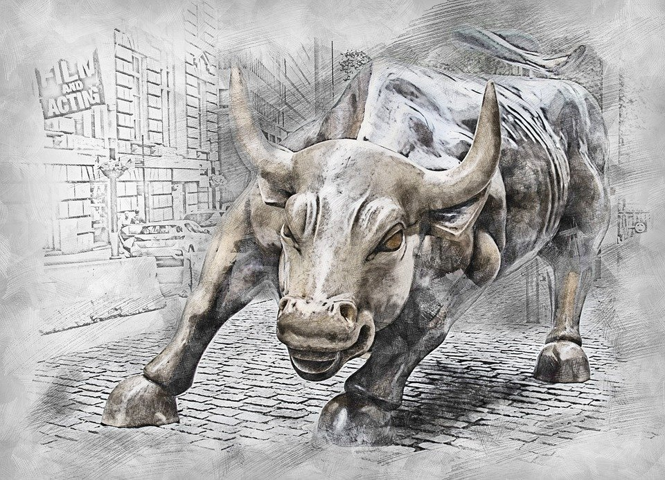 Bull, Statue, Symbol, Animal, Finance, Stock, Exchange