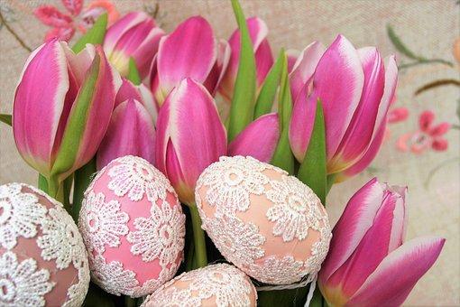 Tulips, Easter Eggs, Eggs, Ornament