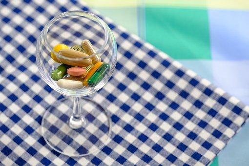 丸薬, 錠, 薬, 医療, 栄養添加物, 食餌療法を補足します, ガラス