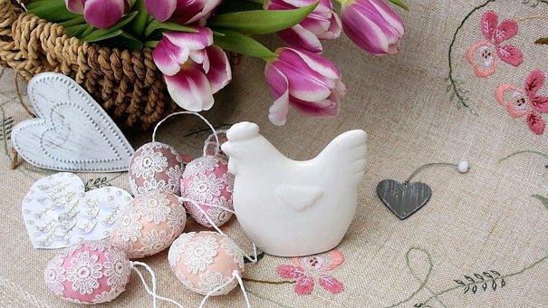 Easter Eggs, Easter, Flowers