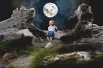 mati, dziecko, księżyc