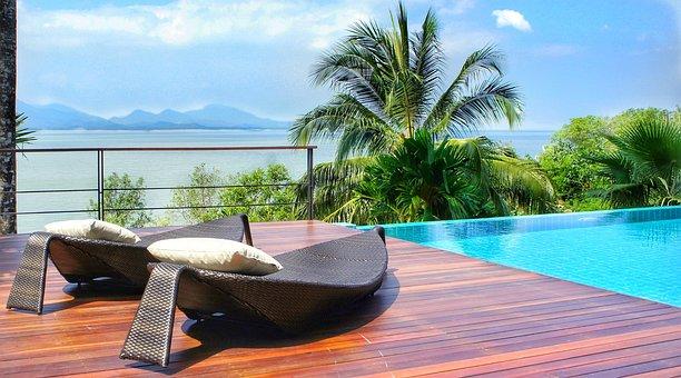 贅沢, リゾート, Ranong, タイ, アンダマン海, スイミングプール
