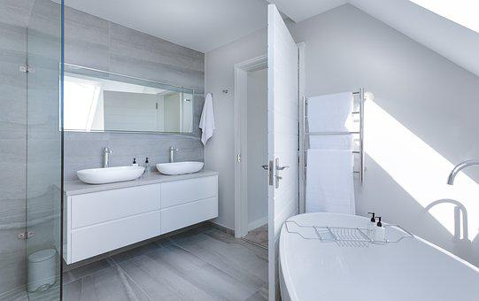 Modern Minimalist Bathroom, Bath