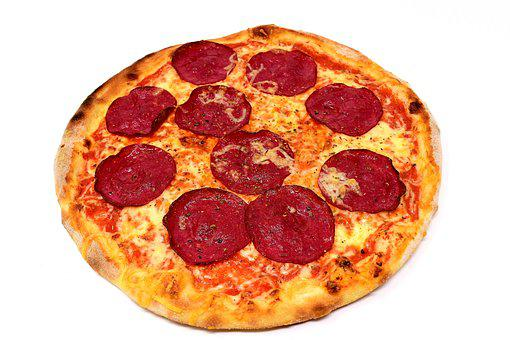 Pizza, Salami, Food, Cheese, Italian