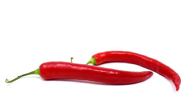 Rode peper, Rood, Eetbaar, Scherpe,