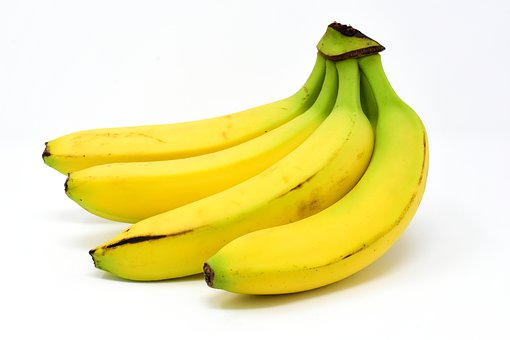 Bananas, Fruit, Delicious, Sweet, Yellow