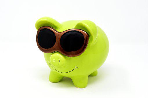 How to budget for Christmas - Piggy Bank, Sunglasses, Cool, Figure