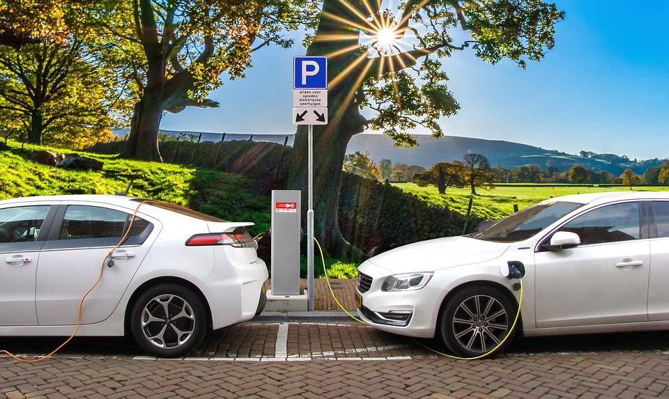 Car, Electric Car, Hybrid Car, Charging Post