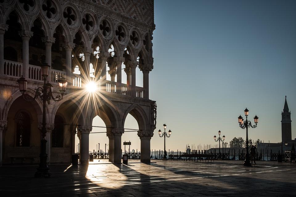 Venise, Le Palais Des Doges, Carrés, L'Architecture