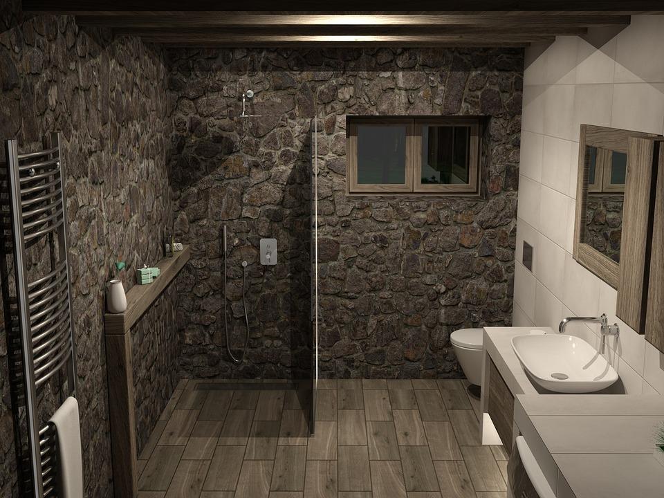 Haus Bad Badezimmer Architektur Drinnen Zimmer