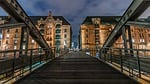 architektura, most, budynku