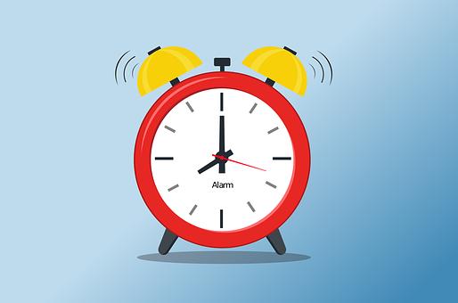 Alarme, Temps, Plat, Réveil, Sommeil