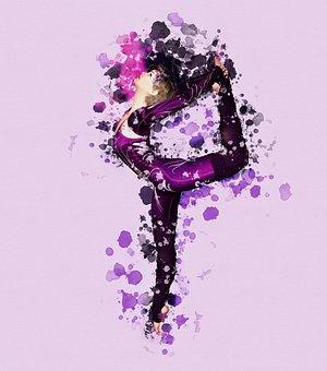 Tancerz, Tło, Opryskiwania, Plamy Koloru