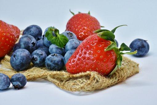 イチゴ, ブルーベリー, フルーツ, 食品, 健康, ベリー, ダイエット