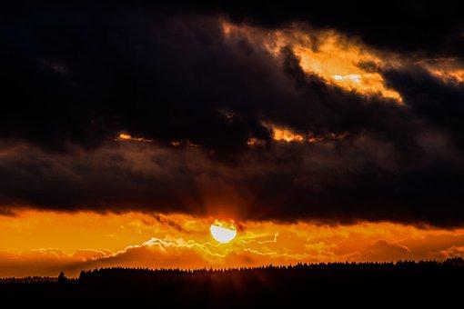 Sonnenuntergang, Sonne, Sonnenstrahlen