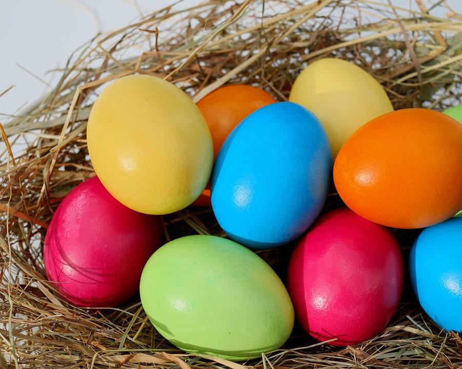 PÃ¥ske, Egg, PÃ¥ske Egg, Fargerike Egg, Farget PÃ¥skeegg