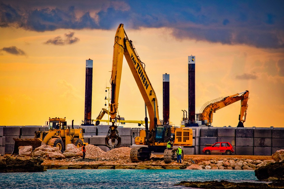 construction site working sea free photo on pixabay
