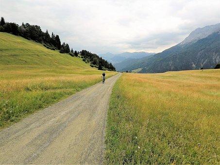 風景, 自然, 草, 道路, パノラマ, 空, 水平, 農村, 旅行