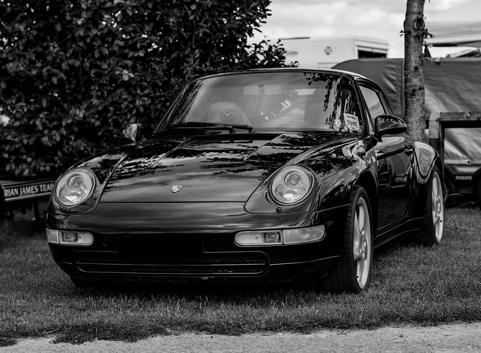 Porsche 911 993 Black And , Free photo on Pixabay
