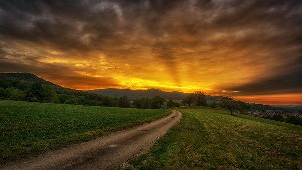 Nature, Sunset, Heaven, Landscape