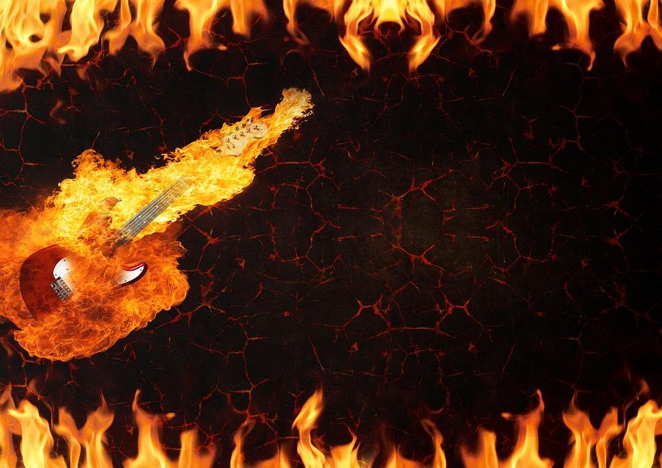 ギター 火 溶岩 Pixabayの無料写真