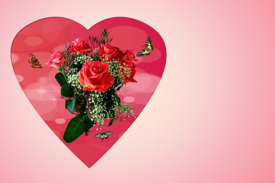 Открытка любимой женщине с цветами