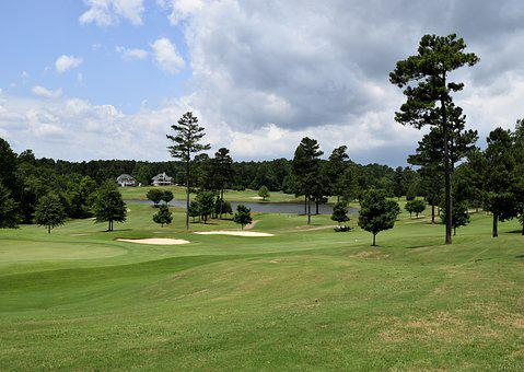nude bogy art golf landscape robe and