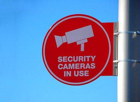 Security Camera Sign, Sign, Camera