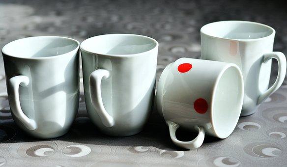 カップ, 空, 磁器, ドリンク, コーヒーカップ, 異なる, 違い