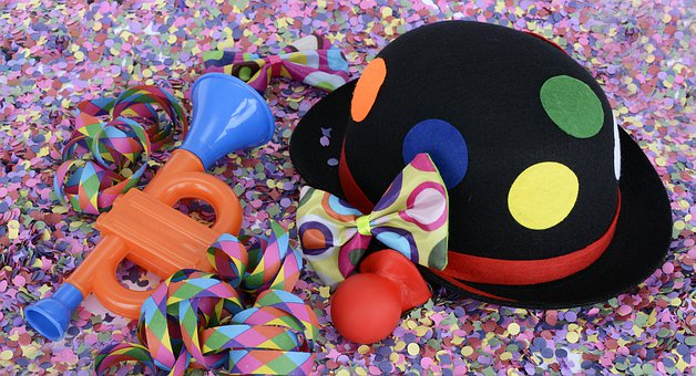 Hat, Confetti, Streamer, Colorful