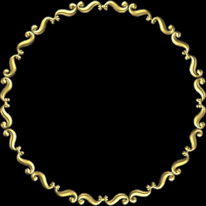 gold frame round 183 free image on pixabay