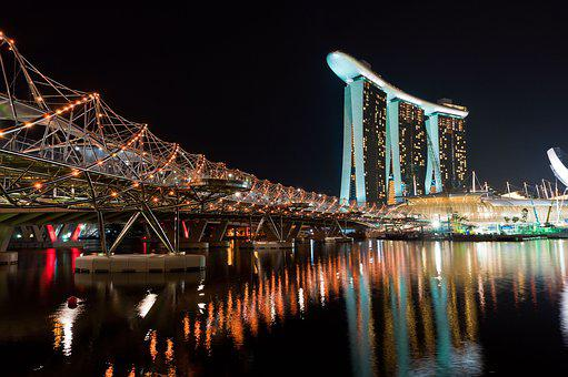 Waters, Travel, City, Bridge, Evening