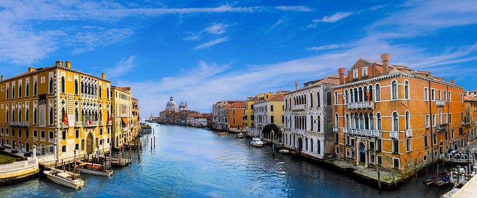 Wenecja, Architektura, Kanał, Wody, Miasta, Budynku