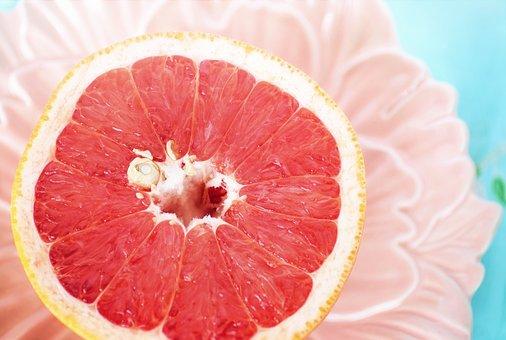 Grapefruit, Pink, Breakfast, Citrus