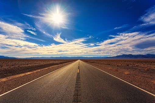 Road, Sky, Desert, Landscape, Nature